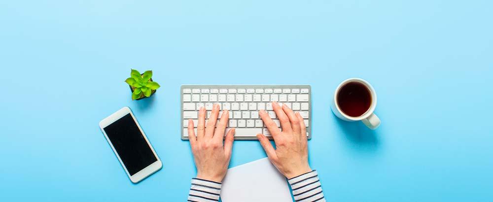 A woman runs a blog