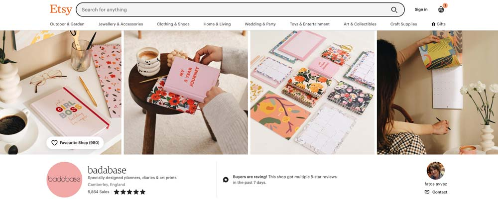 An Etsy Shop Page - Promote Your Etsy Shop