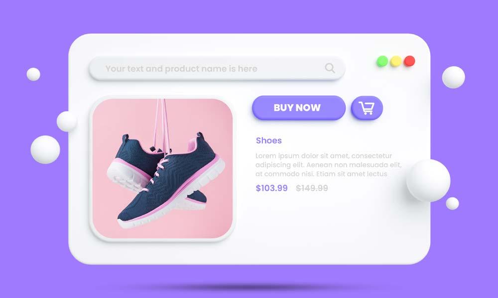 Online shopping eCommerce mockup