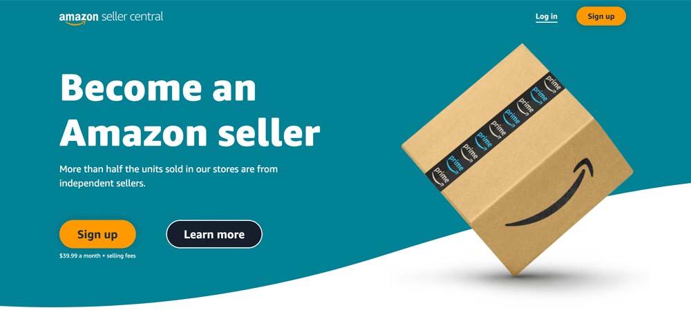 Screenshot of Amazon Seller Login Page