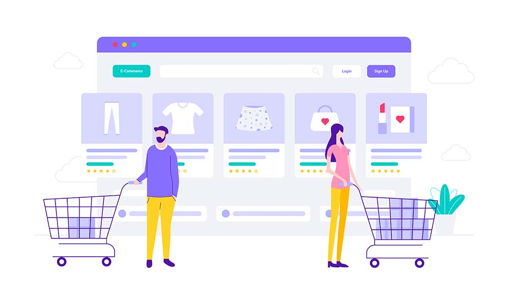 eCommerce store demonstration to show the difference between BigCommerce and WooCommerce